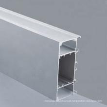 Perfil de extrusão de alumínio personalizado com difusor para PC