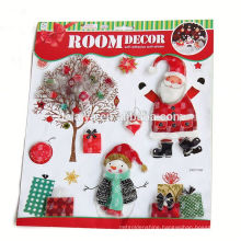 High Quality Wholesale Christmas Ornament Decor Winter Waterproof Christmas Wall Sticker Santa Claus Christmas Window Sticker