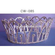 Tiara personalizada coroa falsa de plástico crianças princesa tiara coroa de atacado com