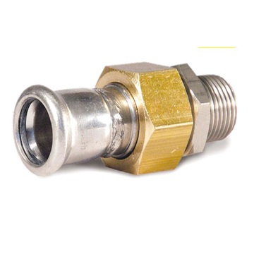 54*2 En 316L Pipe Fitting Joint Connector Male X Press
