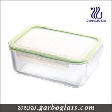 Tazón de almacenamiento de vidrio Pyrex con cubierta