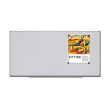 Quadro branco magnético com bandeja de canetas para escola e escritório