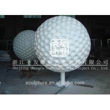 Escultura de pelota de acero inoxidable escultura de golf escultura de metal de golf