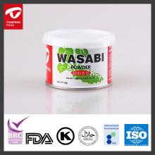 Produto em pó de wasabi seco para sushi