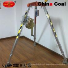 Trépied de sauvetage en aluminium de sécurité du charbon de mine