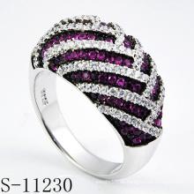 925er Silber Modeschmuck Ring mit Rubin (S-11230)