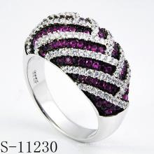 Bague à bijoux en argent 925 avec rubis (S-11230)