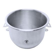 Bol de mélange rond en acier inoxydable à usage commercial avec poignée pour machine alimentaire, pétrissage de la pâte et agitation des oeufs