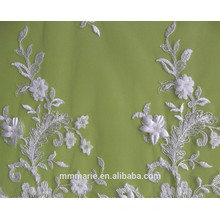 Ivory Embroidered Flower Sequins Lace Fabric Wedding Dresses, Decorations 52'' No.CA105AB