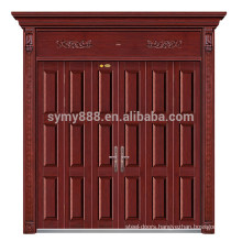 2018 new style laser cut steel men door design Roman villa door in cavite