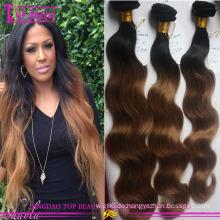 100 % Virgin Haar Weben Körper Welle Omber # 1 b/8 brasilianischen Remy Haar