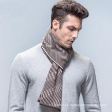 Lenço de inverno tecidos de lã listrado moda masculina (yky4613)