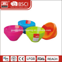High quality wholesale plastic containers salad bowl