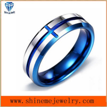 Shineme Jewelry Blue Plating Body Jewelry Tungsten Ring