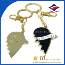 High quality classical heart keychain with decoration