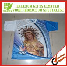 Personalize o Tshirt da sublimação da propaganda impressa do logotipo