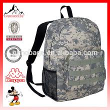 Mochila escolar de ejército con bolígrafo Bolso militar de estudiante de camuflaje