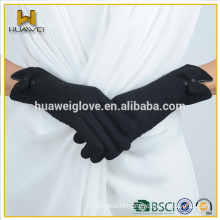 Women's 100% wool black gloves with wool lined