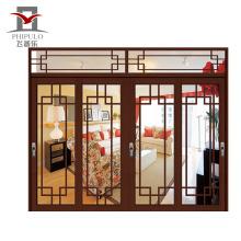 Design de interiores de porta de casa de banho de alumínio de alta qualidade quatro folhas de porta