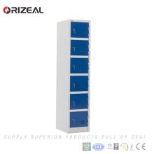 Armario elegante del armario de acero de 6 puertas del almacenaje del metal de la promoción de la fábrica de Orizeal (OZ-OLK012)