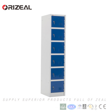 Orizeal Factory Promotion metal storage 6 door steel locker smart locker(OZ-OLK012)