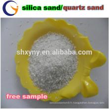sable de quartz blanc / filtre à sable quartz de haute pureté
