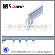 SC02 Plastic single curtain rail with end cap accessories
