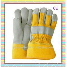 Durable cow leather working gloves