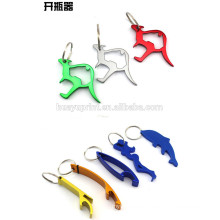 Metal Animal Shape Lase Logo Bottle Opener Key Ring