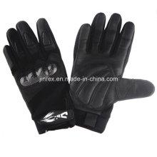 Dauerhafter radfahrenmotorrad-Motorrad-voller Finger-Gel-Polsterungs-Handschuh