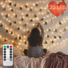 Christmas Cards Photo Led Clip String Lights