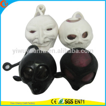 Hot Selling Novelty TPR Squish Skull Toy