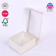 high quality white rectangle paper box with clear window