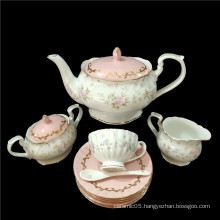 Wholesale Dinnerware Pink Tea Set Drink Set Household Kettle Living Room Afternoon Tea Set