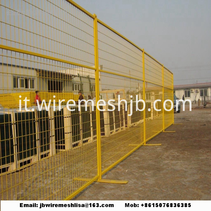Powder Coated And Galvanized Temporary Fence