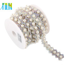 Costume Pearl Strass Crystal Rhinestone Pearl Cup Plastic Trim