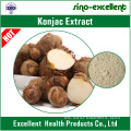 natural Konjac Extracto polvo fino