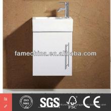 2013 alto brillo de tamaño pequeño MDF montado en la pared espejo de muebles de baño