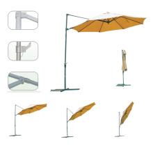 Cantilever pátio manivela durável boa qualidade guarda-chuva