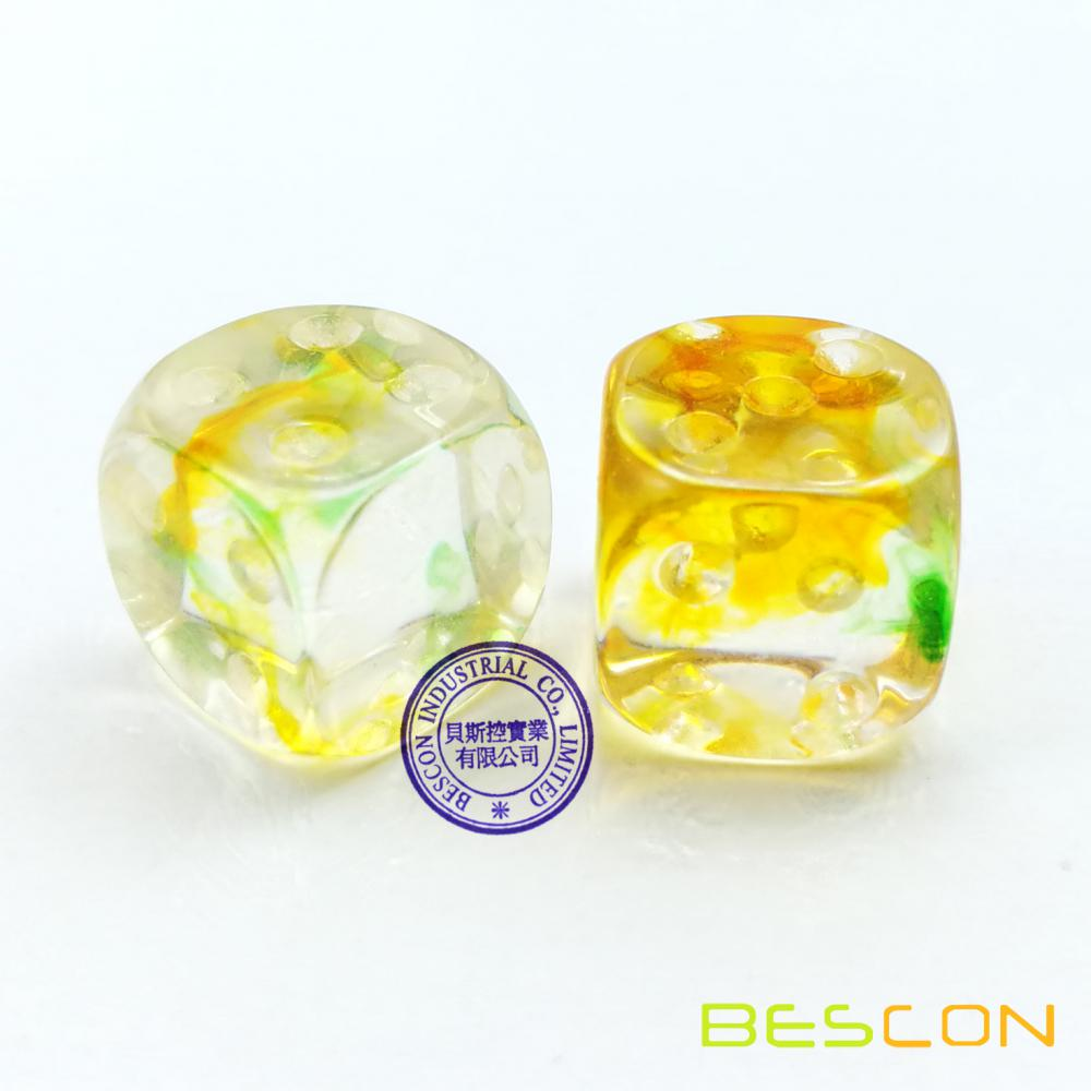 Two Tone Nebula Dice With Pips Nebulous 16mm D6 Dice