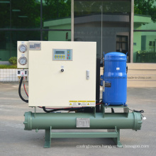 10HP Brazed Plate Stainless Steel Water-Cooled Scroll Chiller for Beverage Processing