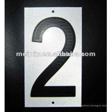 Pegatinas reflectantes que imprimen el número para las muestras de peligro