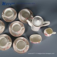 15pcs caff utilise un précieux antique thé chinois thé chinois / set de thé et de café plein de culture chinoise