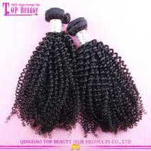 Nouveau conçu jerry bouclés cheveux armure 100% non transformés vierge mongolian cheveux bouclés weave