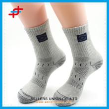 Graue Sport-Socken Kompression Herren Socke benutzerdefinierte Logo