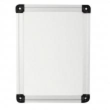 Aluminiumrahmen weißes Brett
