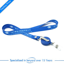 Wholesale Customized Logo Cheap Printed Polyester Woven Nylon Tubular Card Holder Keychain Dye Sublimation Heat Transfer Printing Neck Strap with Badge Reel