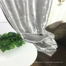 2016 Tissu de rideau de gris gris populaire