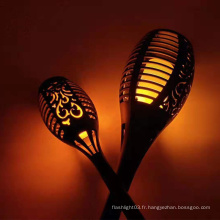 Lampe à flamme solaire pour cour extérieure