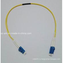 Волоконно-оптический кабель с одномодовыми одиночными LC-LC коннекторами (0,6M)